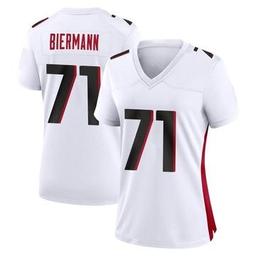 Women's Nike Atlanta Falcons Kroy Biermann White Jersey - Game