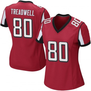 Women's Nike Atlanta Falcons Laquon Treadwell Red Team Color Jersey - Game