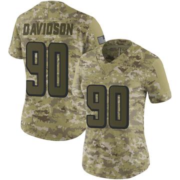 Women's Nike Atlanta Falcons Marlon Davidson Camo 2018 Salute to Service Jersey - Limited
