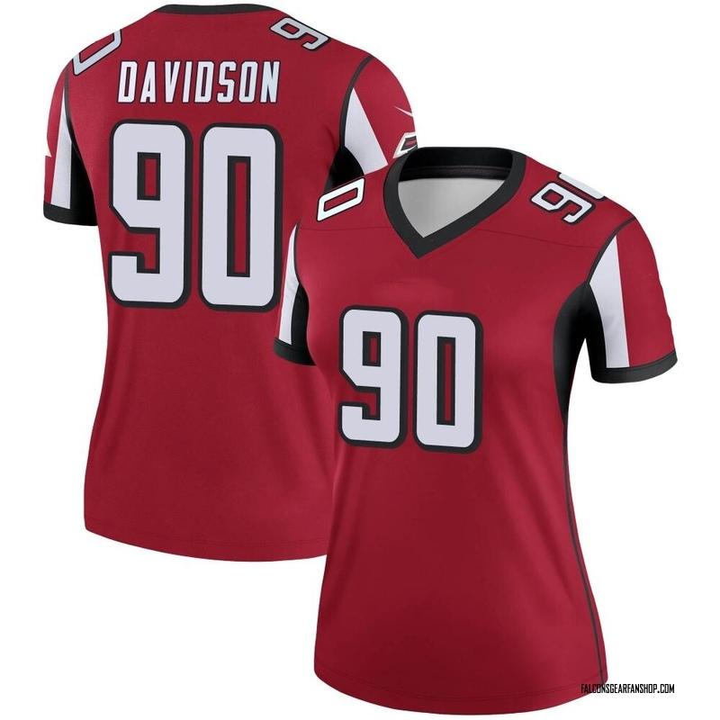 Women's Nike Atlanta Falcons Marlon Davidson Red Jersey - Legend