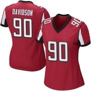 Women's Nike Atlanta Falcons Marlon Davidson Red Team Color Jersey - Game