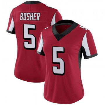 Women's Nike Atlanta Falcons Matt Bosher Red 100th Vapor Jersey - Limited