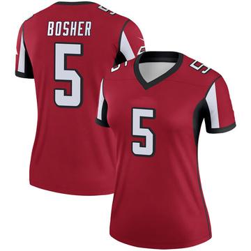 Women's Nike Atlanta Falcons Matt Bosher Red Jersey - Legend