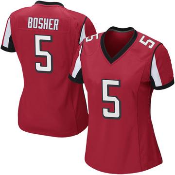 Women's Nike Atlanta Falcons Matt Bosher Red Team Color Jersey - Game