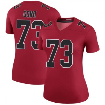 Women's Nike Atlanta Falcons Matt Gono Red Color Rush Jersey - Legend
