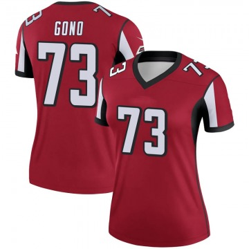 Women's Nike Atlanta Falcons Matt Gono Red Jersey - Legend