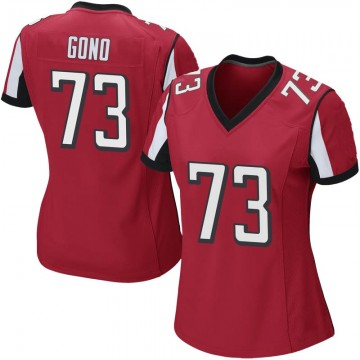 Women's Nike Atlanta Falcons Matt Gono Red Team Color Jersey - Game