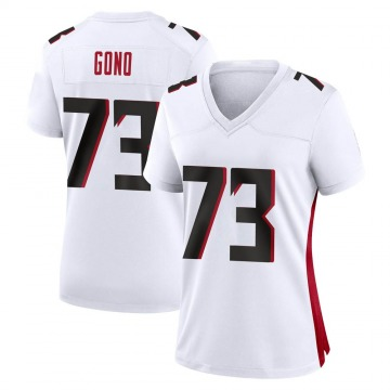 Women's Nike Atlanta Falcons Matt Gono White Jersey - Game
