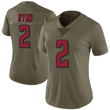 Women's Nike Atlanta Falcons Matt Ryan Green 2017 Salute to Service Jersey - Limited