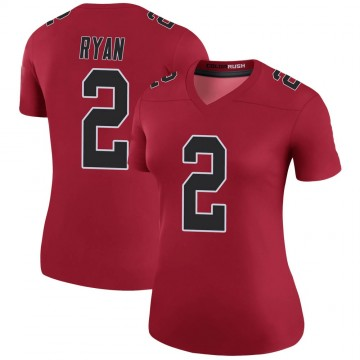 Women's Nike Atlanta Falcons Matt Ryan Red Color Rush Jersey - Legend