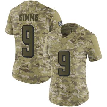 Women's Nike Atlanta Falcons Matt Simms Camo 2018 Salute to Service Jersey - Limited
