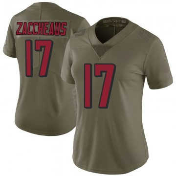 Women's Nike Atlanta Falcons Olamide Zaccheaus Green 2017 Salute to Service Jersey - Limited