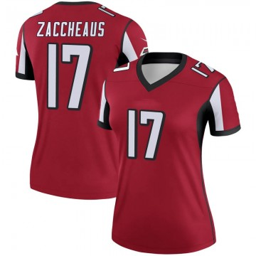 Women's Nike Atlanta Falcons Olamide Zaccheaus Red Jersey - Legend