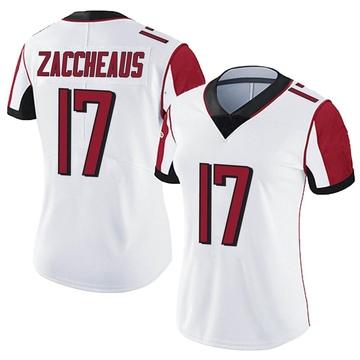 Women's Nike Atlanta Falcons Olamide Zaccheaus White Vapor Untouchable Jersey - Limited