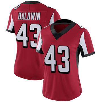 Women's Nike Atlanta Falcons Parker Baldwin Red 100th Vapor Jersey - Limited