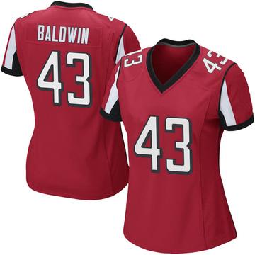 Women's Nike Atlanta Falcons Parker Baldwin Red Team Color Jersey - Game