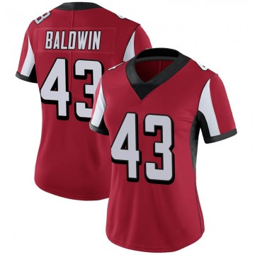 Women's Nike Atlanta Falcons Parker Baldwin Red Team Color Vapor Untouchable Jersey - Limited