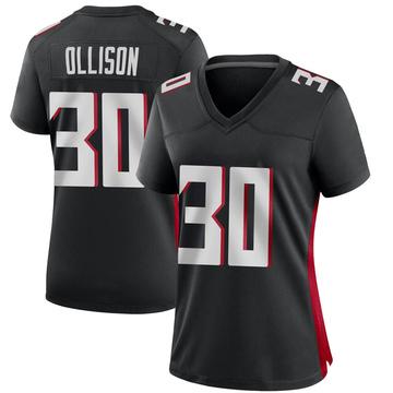 Women's Nike Atlanta Falcons Qadree Ollison Black Alternate Jersey - Game