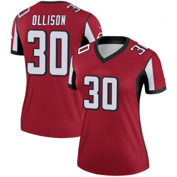 Women's Nike Atlanta Falcons Qadree Ollison Red Jersey - Legend