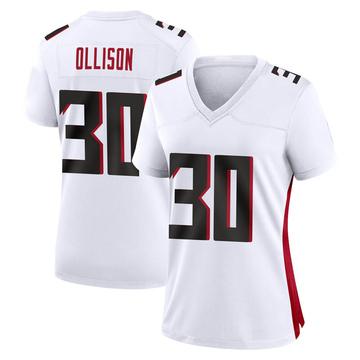 Women's Nike Atlanta Falcons Qadree Ollison White Jersey - Game