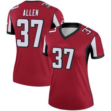 Women's Nike Atlanta Falcons Ricardo Allen Red Jersey - Legend