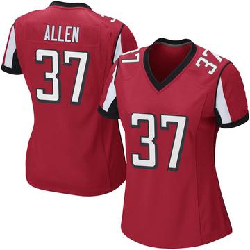 Women's Nike Atlanta Falcons Ricardo Allen Red Team Color Jersey - Game