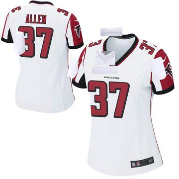 Women's Nike Atlanta Falcons Ricardo Allen White Jersey - Game