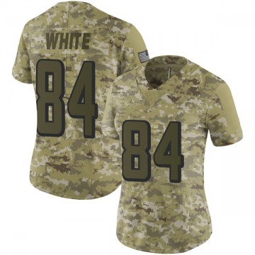Women's Nike Atlanta Falcons Roddy White White Camo 2018 Salute to Service Jersey - Limited