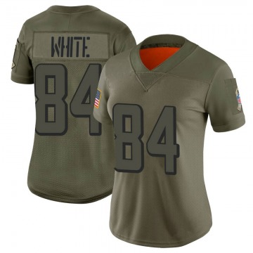 Women's Nike Atlanta Falcons Roddy White White Camo 2019 Salute to Service Jersey - Limited