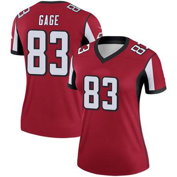Women's Nike Atlanta Falcons Russell Gage Red Jersey - Legend