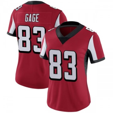 Women's Nike Atlanta Falcons Russell Gage Red Team Color Vapor Untouchable Jersey - Limited