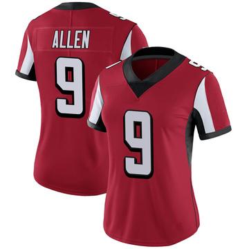 Women's Nike Atlanta Falcons Ryan Allen Red Team Color Vapor Untouchable Jersey - Limited