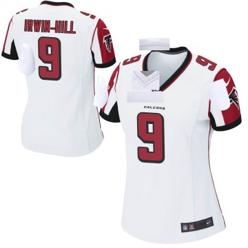 Women's Nike Atlanta Falcons Sam Irwin-Hill White Jersey - Game