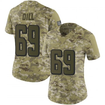 Women's Nike Atlanta Falcons Scottie Dill Camo 2018 Salute to Service Jersey - Limited