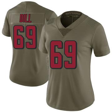 Women's Nike Atlanta Falcons Scottie Dill Green 2017 Salute to Service Jersey - Limited