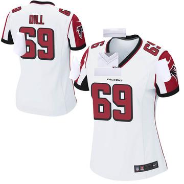 Women's Nike Atlanta Falcons Scottie Dill White Jersey - Game