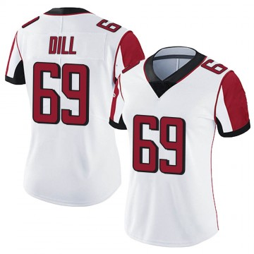 Women's Nike Atlanta Falcons Scottie Dill White Vapor Untouchable Jersey - Limited