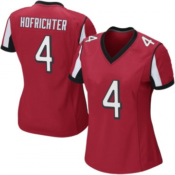 Women's Nike Atlanta Falcons Sterling Hofrichter Red Team Color Jersey - Game