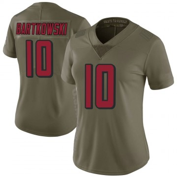 Women's Nike Atlanta Falcons Steve Bartkowski Green 2017 Salute to Service Jersey - Limited