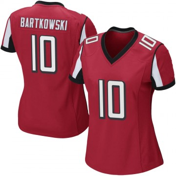 Women's Nike Atlanta Falcons Steve Bartkowski Red Team Color Jersey - Game