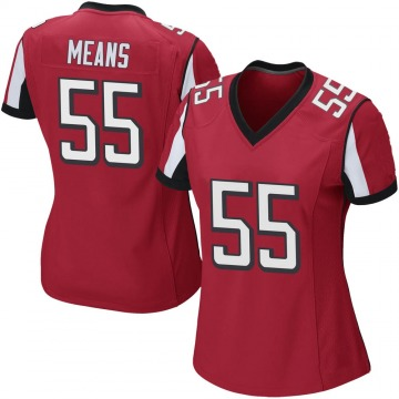 Women's Nike Atlanta Falcons Steven Means Red Team Color Jersey - Game