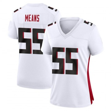 Women's Nike Atlanta Falcons Steven Means White Jersey - Game