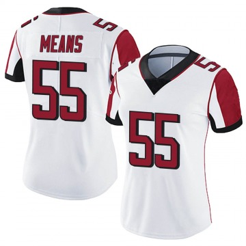Women's Nike Atlanta Falcons Steven Means White Vapor Untouchable Jersey - Limited