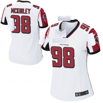 Women's Nike Atlanta Falcons Takkarist McKinley White Jersey - Game