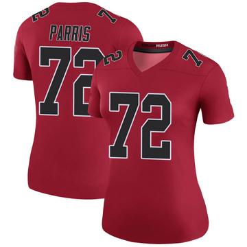 Women's Nike Atlanta Falcons Timon Parris Red Color Rush Jersey - Legend