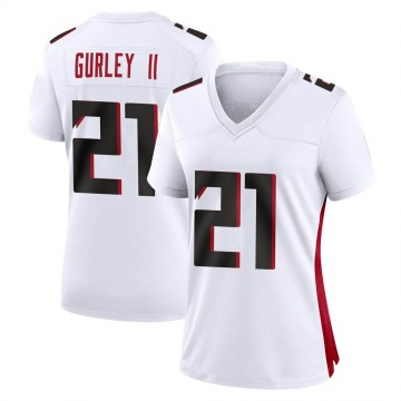 Women's Nike Atlanta Falcons Todd Gurley White Jersey - Game