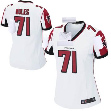 Women's Nike Atlanta Falcons Tommy Doles White Jersey - Game