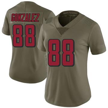 Women's Nike Atlanta Falcons Tony Gonzalez Green 2017 Salute to Service Jersey - Limited