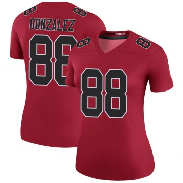 Women's Nike Atlanta Falcons Tony Gonzalez Red Color Rush Jersey - Legend