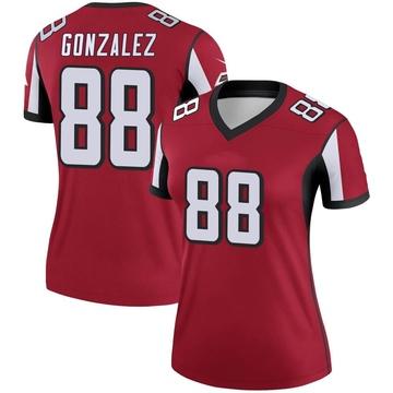 Women's Nike Atlanta Falcons Tony Gonzalez Red Jersey - Legend